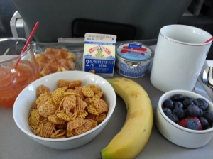 First class breakfast. I didn't pay a dime for the flight.